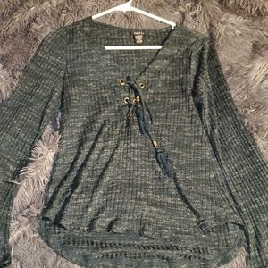 Olive green top w/ Flare sleeve